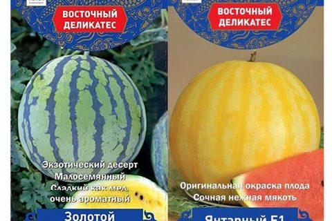 🌱 Арбуз Янтарный F1 🌱 Необычная окраска, очень… | Интересный контент в группе Русские Семена. Сад, огород, дача.
