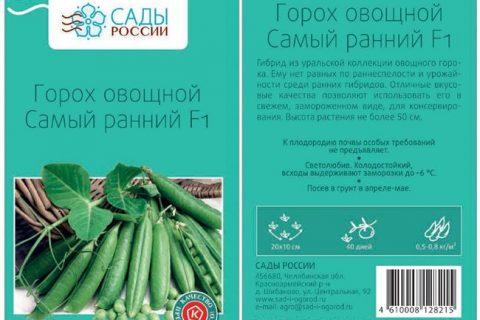 Урбана — сорт растения Горох овощной
