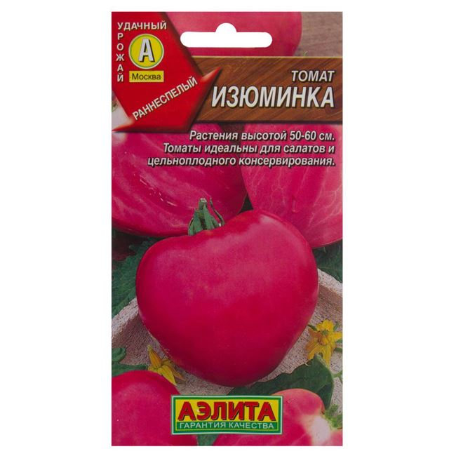 Характеристика и описание сорта томата Изюминка