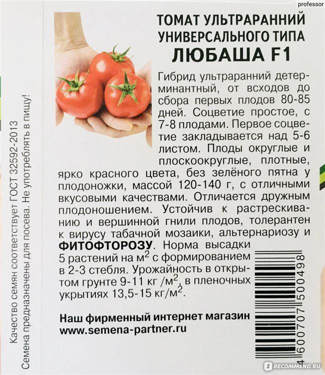 Характеристика томатов