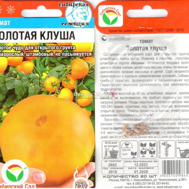 Характеристики и описание томатов Клуша
