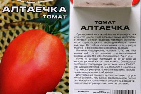 Томат Алтаечка: описание и характеристики, особенности посадки и выращивания, болезни и вредители, достоинства и недостатки